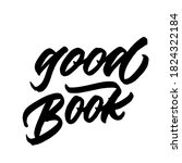 good book. handwritten modern...   Shutterstock .eps vector #1824322184