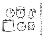 hand drawn simple set of time...   Shutterstock .eps vector #1824338864
