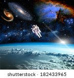 space landscape  view from the... | Shutterstock . vector #182433965