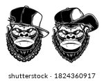set of illustrations of head of ... | Shutterstock .eps vector #1824360917