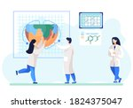 scientists discuss ecology on... | Shutterstock .eps vector #1824375047