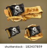 3d,adventure,antique,background,banner,black,blackjack,bone,cloth,crime,cross,danger,death,design,detail