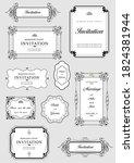 set of ornate frames and... | Shutterstock . vector #1824381944