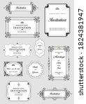 set of ornate vector frames and ... | Shutterstock .eps vector #1824381947