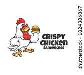 crispy chicken sandwiches... | Shutterstock .eps vector #1824386867
