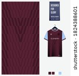 fabric pattern design. geometry ... | Shutterstock .eps vector #1824388601