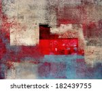 beige and red abstract art... | Shutterstock . vector #182439755