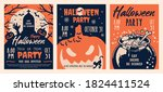 halloween party vintage... | Shutterstock .eps vector #1824411524