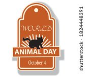 world animal day sign and badge | Shutterstock .eps vector #1824448391
