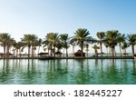 palm trees on beach coast in... | Shutterstock . vector #182445227
