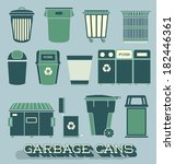vector set  garbage and... | Shutterstock .eps vector #182446361