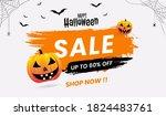 halloween sale concept banners  ... | Shutterstock .eps vector #1824483761