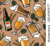 beer vintage colorful seamless... | Shutterstock .eps vector #1824585977