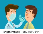 doctor with medical mask on... | Shutterstock .eps vector #1824590144