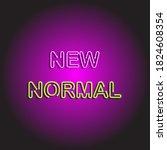 typography design of new normal ... | Shutterstock .eps vector #1824608354