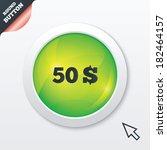 50 dollars sign icon. usd...