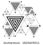 abstract geometric technology... | Shutterstock .eps vector #1824645011