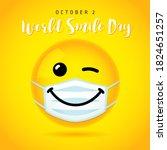 world smile day wink banner... | Shutterstock .eps vector #1824651257