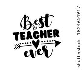 best teacher ever   vector... | Shutterstock .eps vector #1824654917