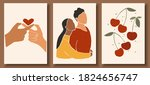 set of abstract man and female... | Shutterstock .eps vector #1824656747