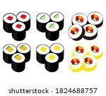 vector illustration of seaweed ...   Shutterstock .eps vector #1824688757