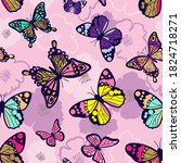 seamless bright pattern with... | Shutterstock .eps vector #1824718271