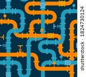 pipeline seamless pattern.... | Shutterstock .eps vector #1824730124