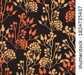 vector autumn berries... | Shutterstock .eps vector #1824735437