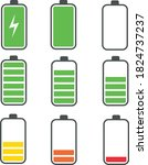 Battery Icons Set. Battery...