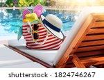 Striped Red White Beach Bag...