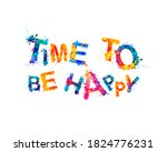 time to be happy. vector... | Shutterstock .eps vector #1824776231