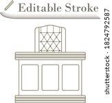 judge table icon. editable...