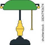 writer's lamp icon. outline...