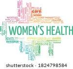 women's health vector... | Shutterstock .eps vector #1824798584