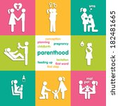 Icons illustrating the parenthood