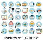 web design objects  business ... | Shutterstock .eps vector #182483759