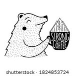 vector illustration with bear...   Shutterstock .eps vector #1824853724