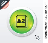 paper size a2 standard icon....