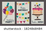 set of beautiful colorful... | Shutterstock .eps vector #1824868484
