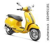 Yellow Retro Vintage Scooter...