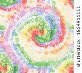 tie dye hippie swirl. spiral... | Shutterstock .eps vector #1824911111