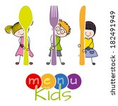 kids menu | Shutterstock .eps vector #182491949