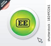 estonian language sign icon. ee ...