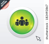 group of people sign icon....