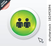 friends sign icon. social media ...