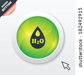 h2o water drop sign icon. tear...