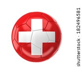 3d soccer ball with swiss flag | Shutterstock . vector #182496581