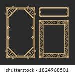vector art deco frame... | Shutterstock .eps vector #1824968501