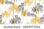 safari background. jungle wild... | Shutterstock .eps vector #1824971561