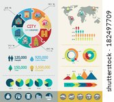 city infographic elements with... | Shutterstock .eps vector #182497709
